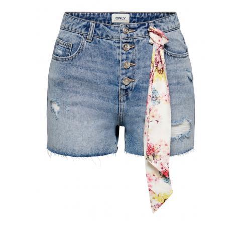 Only onlphine life  btn dest shorts bb bj674 denim claro - Imagen 1