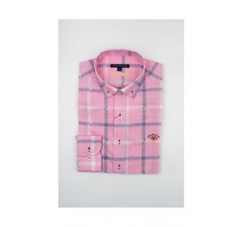 Spagnolo hombre cm cuello boton smart rustico 1410 rosa - Imagen 2