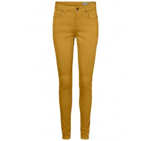 Veromoda vmhot seven mr slim push up pants amarillo - Imagen 1