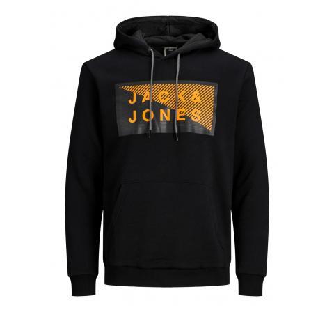 Jack&jones jcoshawn sweat hood sn negro - Imagen 1