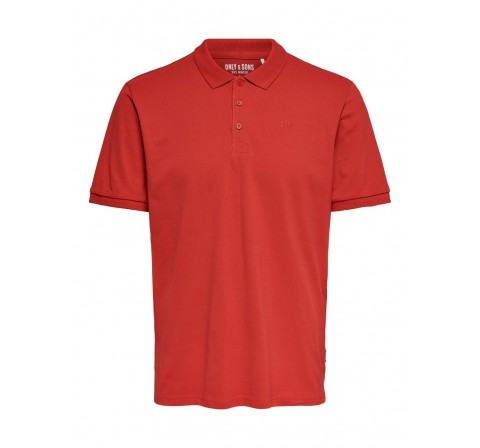 Only & sons noos onsscott life pique polo noos rojo - Imagen 3