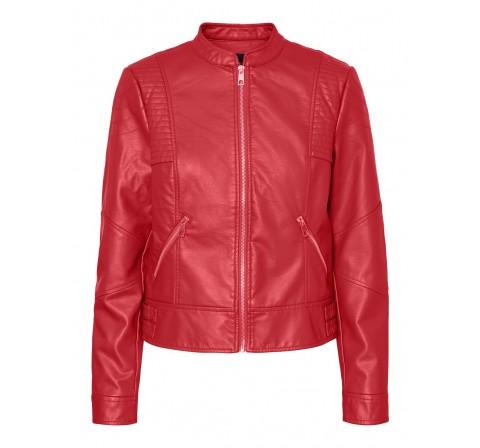 Veromoda vmriamarta short coated jacket pi rojo - Imagen 1