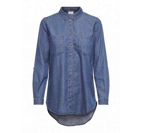 Jdy jdyroger l/s long shirt  wvn denim medio - Imagen 1