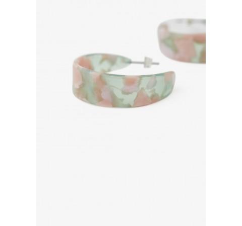 Pieces pcnaliana hoop earrings multicolor - Imagen 1