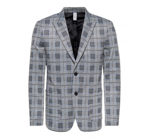 Only & sons onselias check  casual blazer jkt negro - Imagen 1