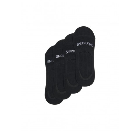 Only & sons noos onslester invisible sock 4-pack noos negro - Imagen 1