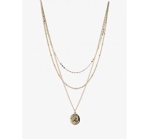 Pieces pcnovalie combi necklace oro - Imagen 1
