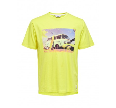 Only & sons noos onsilo reg ss tee amarillo - Imagen 5