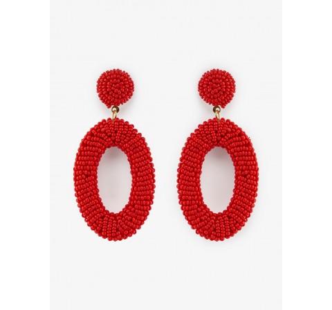 Pieces pcnourah earrings sww rojo - Imagen 1