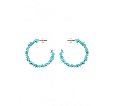 Pieces pcnulla hoop earrings sww oro - Imagen 1