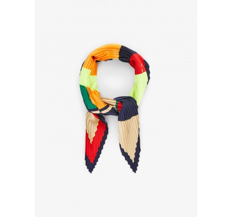 Pieces pcamy plissÉ small square scarf amarillo - Imagen 1