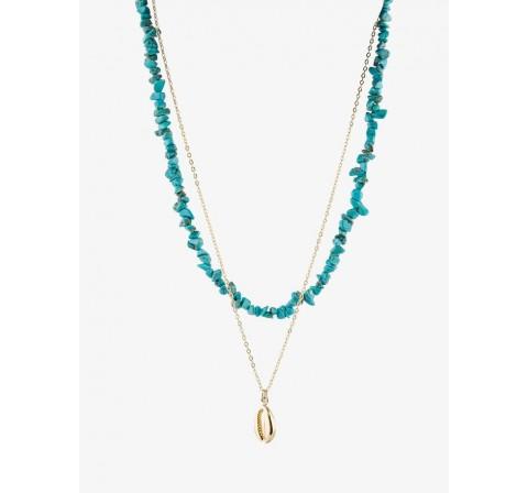 Pieces pcnulla combi necklace sww oro - Imagen 1