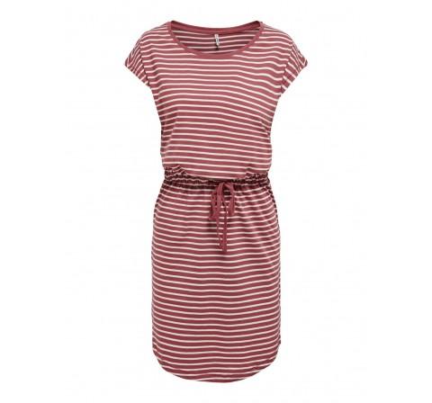 Only noos onlmay life s/s dress noos rosado - Imagen 1