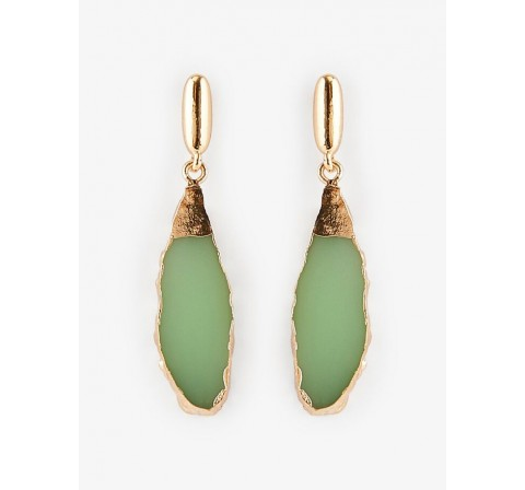 Pieces pcmathilde earrings gold verde claro - Imagen 1
