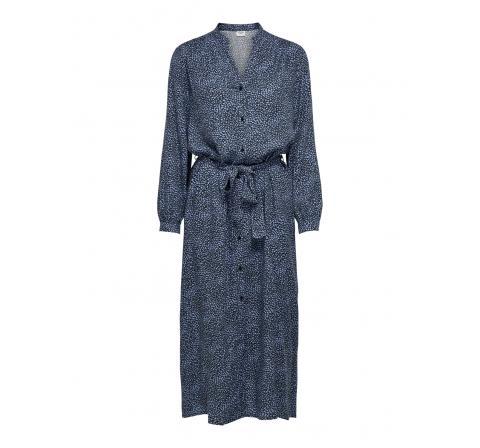 Jdy jdypearl l/s midcalf dress wvn azul - Imagen 1