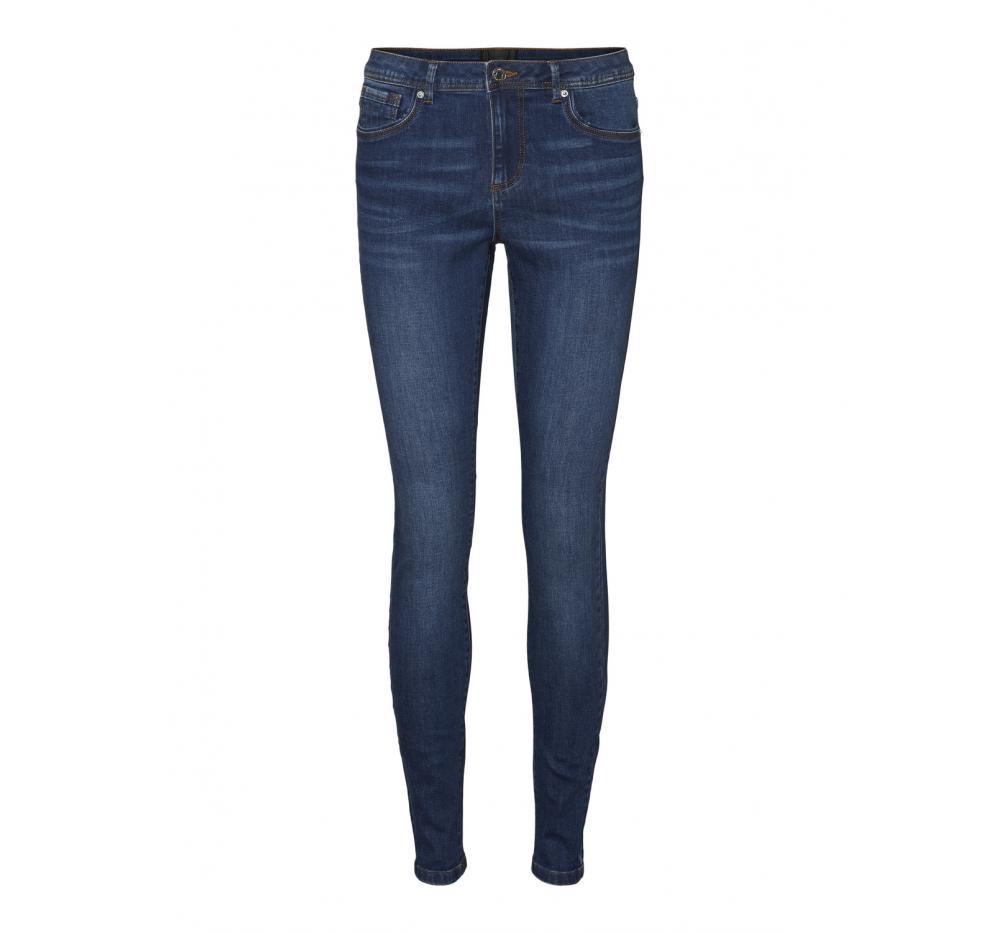 Veromoda vmtanya mr s piping jeans vi369 noos denim oscuro - Imagen 1