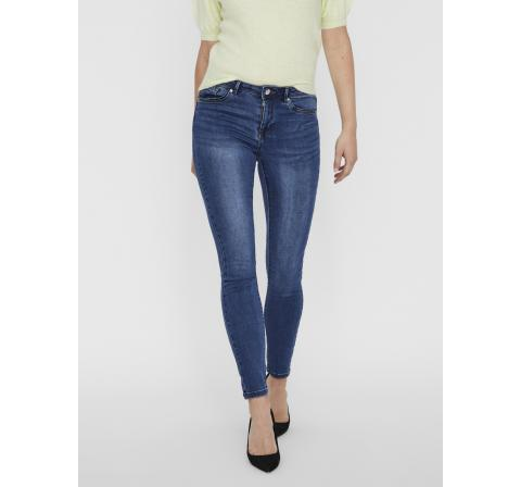 Veromoda vmtanya mr s piping jeans vi369 noos denim oscuro - Imagen 3