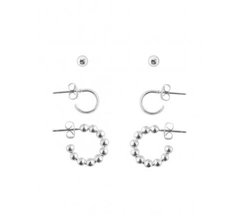 Pieces pcshaina 3-pack earrings plata - Imagen 2