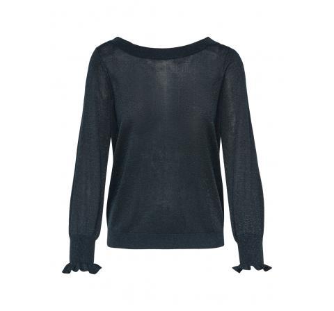 Only noos onlaylana life l/s back pullover knt negro - Imagen 1