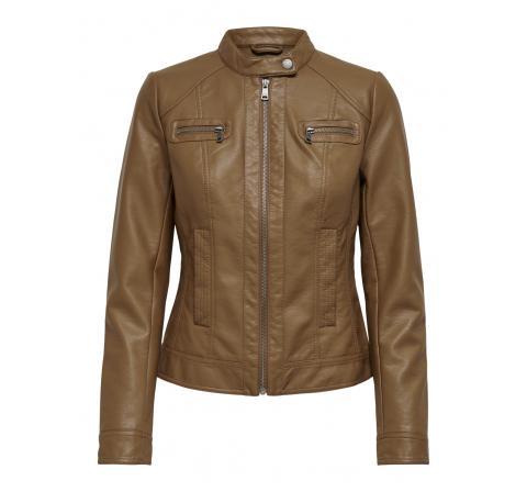 Only noos onlbandit faux leather biker otw noos cognac - Imagen 1