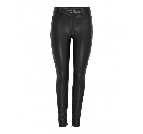 Only noos onlholly faux leather pant otw negro - Imagen 1