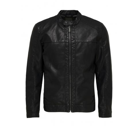 Only & sons noos onsmike pu racer jacket otw negro - Imagen 1