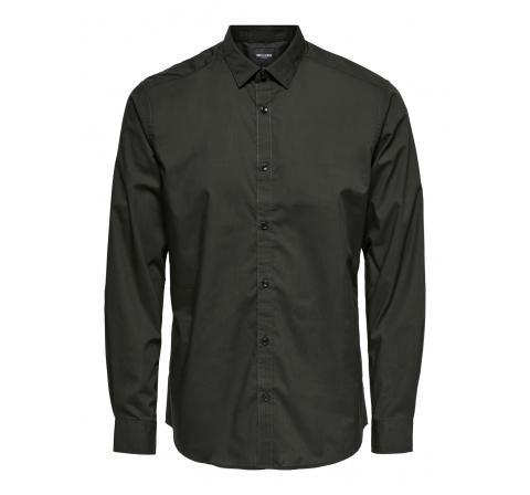 Only & sons noos onssane ls solid poplin shirt negro - Imagen 1
