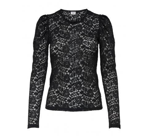 Jdy jdykim l/s puff sleeve lace top jrs negro - Imagen 1