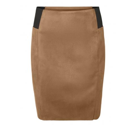 Veromoda vmcava hw faux suede skirt jrs boo marron - Imagen 1