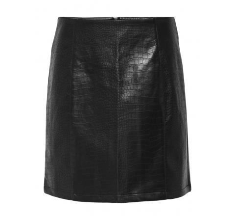 Jdy jdyval snake faux leather skirt otw sie negro - Imagen 1