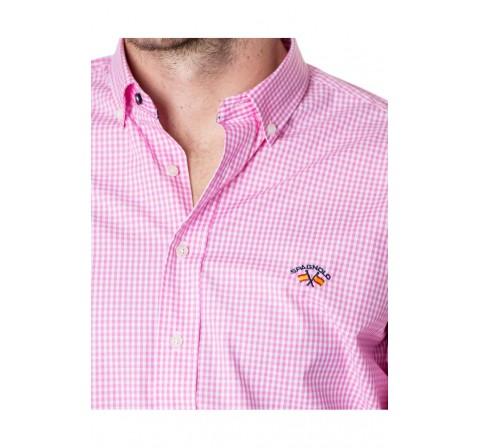 Spagnolo hombre cm c/boton bandera pop. 8068 rosa - Imagen 1