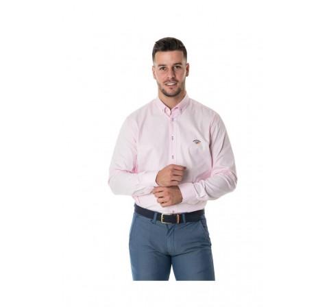 Spagnolo hombre cm cuello boton gabardina alg. 0068 rosa - Imagen 1