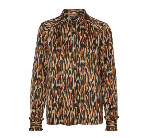 Veromoda vmchloe ls shirt wvn ga lcs negro - Imagen 1