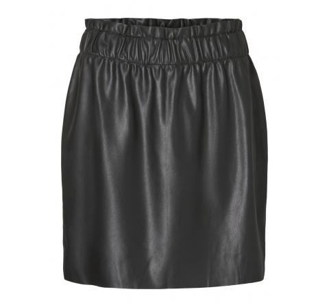 Veromoda vmgwenriley hr pu paperbag skirt negro - Imagen 1