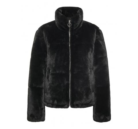 Jdy jdytouch faux fur padded jacket otw sie negro - Imagen 1