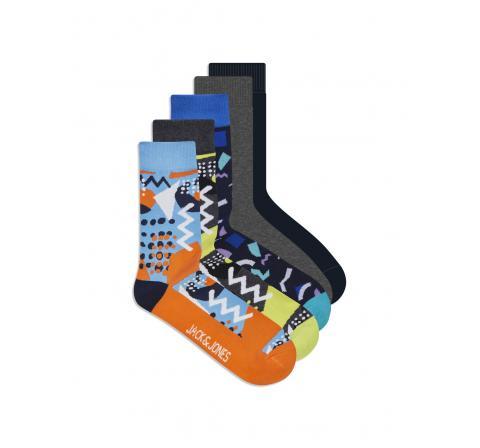 Jack&jones jacurban sock 5 pack amarillo - Imagen 1