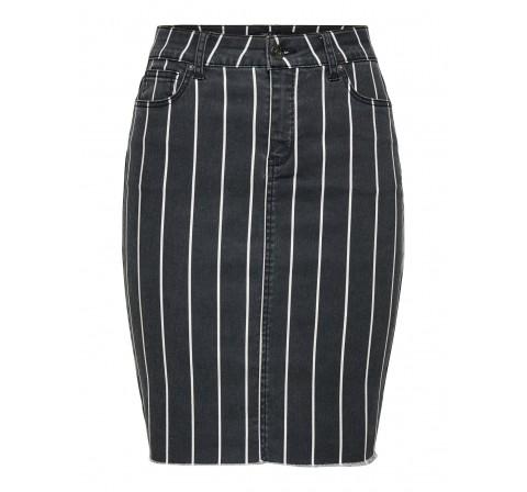 Only onlemilie-ester mw aop skirt cc pnt negro - Imagen 1