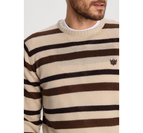 Bendorff jersey cuello franja marron - Imagen 1