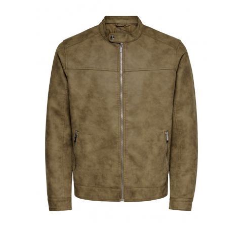 Only & sons onsjasper pu jacket otw vd marron - Imagen 3