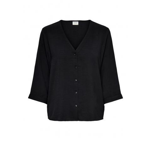 Jdy jdycapote 3/4 shirt wvn negro - Imagen 1