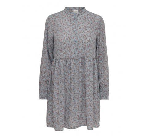 Jdy jdycarmen l/s short dress wvn azul - Imagen 1