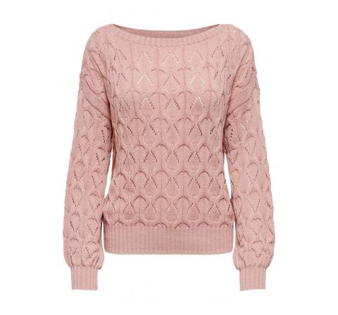 Only noos onlbrynn life structure l/s pul knt noos rosa - Imagen 1