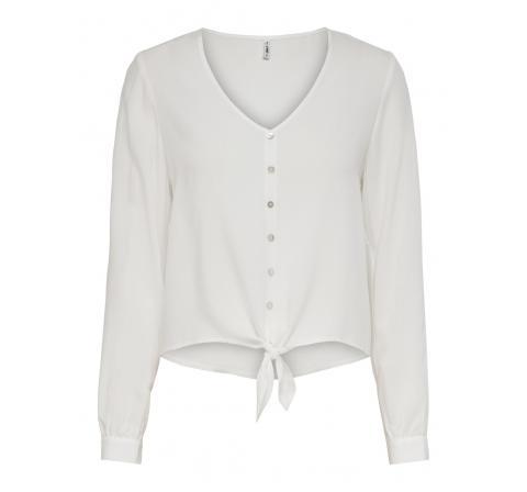 Only noos onlnina life l/s tie shirt noos wvn blanco - Imagen 1