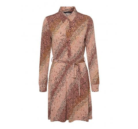 Veromoda vmbibi ls blk shirt dress jrs rosa - Imagen 1