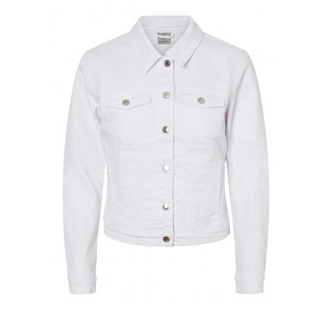 Veromoda vmhot soya ls denim jacket mix ga noos blanco - Imagen 1