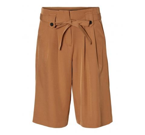 Veromoda vmlayla hw knee shorts tlr marron - Imagen 1