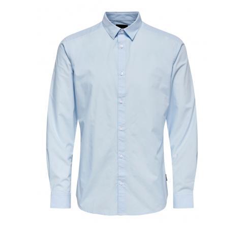 Only & sons onsluis ls basic poplin shirt celeste - Imagen 1