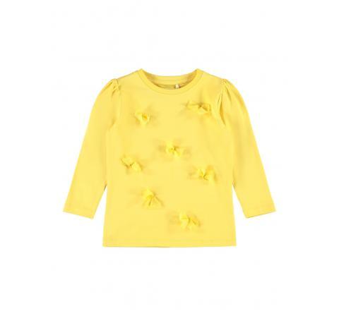Name it mini niÑa nmfbow ls top amarillo - Imagen 1