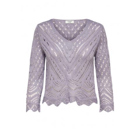 Jdy jdynew sun 3/4 cropped pullover knt morado - Imagen 5
