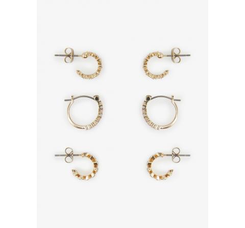Pieces pcnija earrings 3-pack oro - Imagen 1